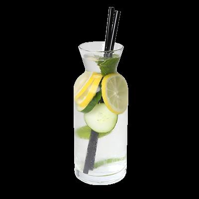 Detox voda meta, limona in kumare