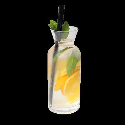 Detox voda pomaranča, meta, limona