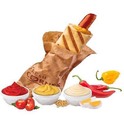 Hot dog s papriko