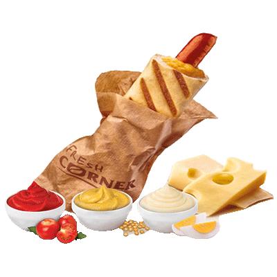 Hot dog s sirom
